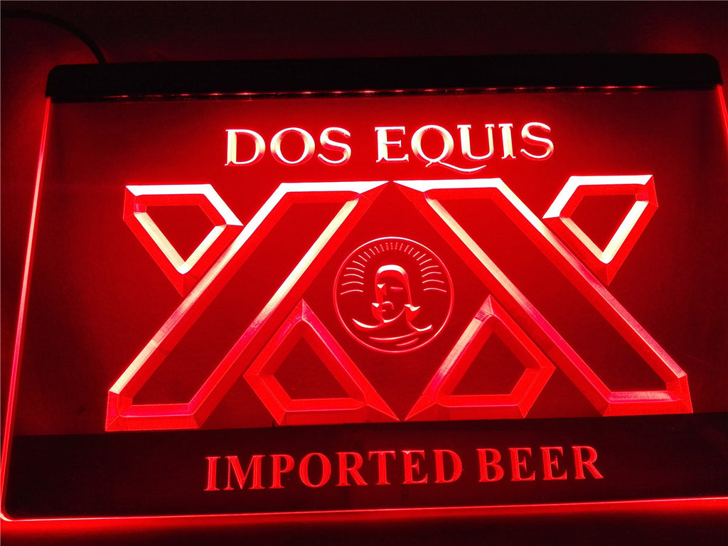 Dos Equis Beer Bar Pub LED Sign - Red - TheLedHeroes