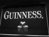 FREE Guinness Beer Shamrock (2) LED Sign - White - TheLedHeroes