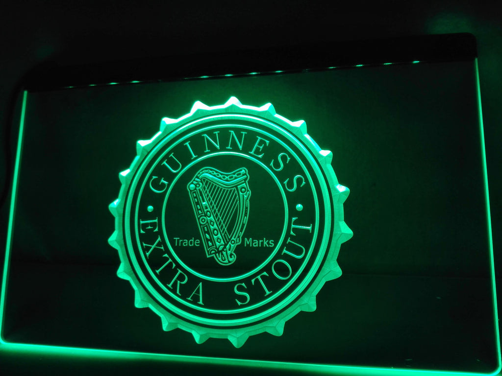 Guinness Vintage Logos Beer Bar LED Sign