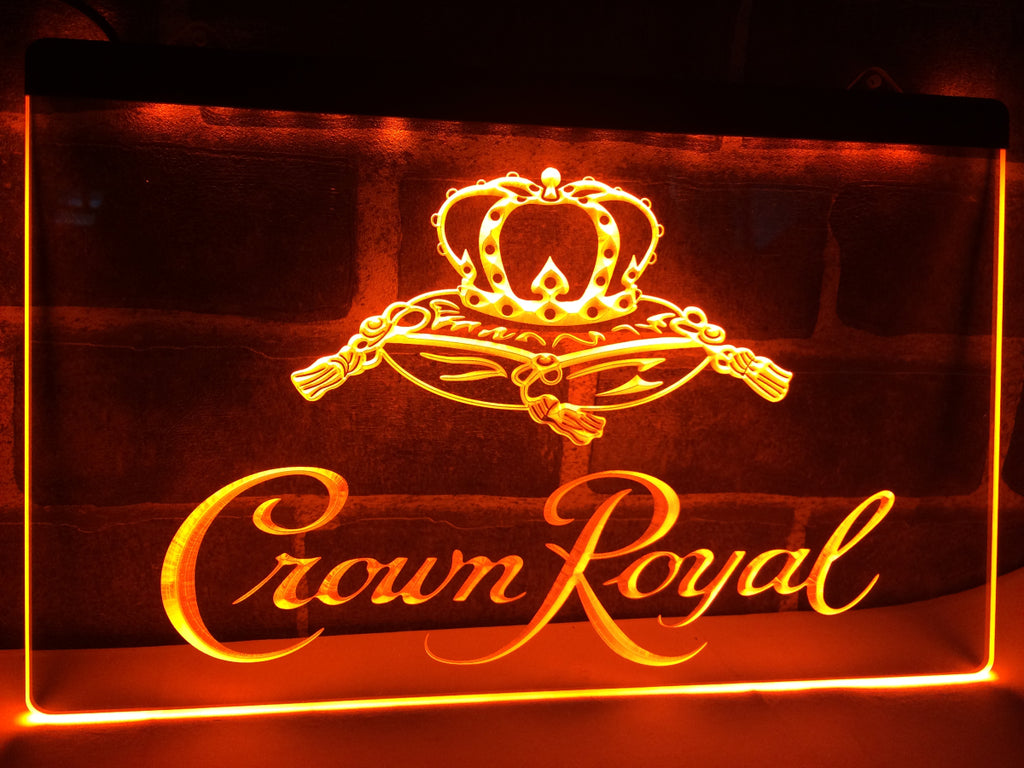 FREE Crown Royal LED Sign - Orange - TheLedHeroes
