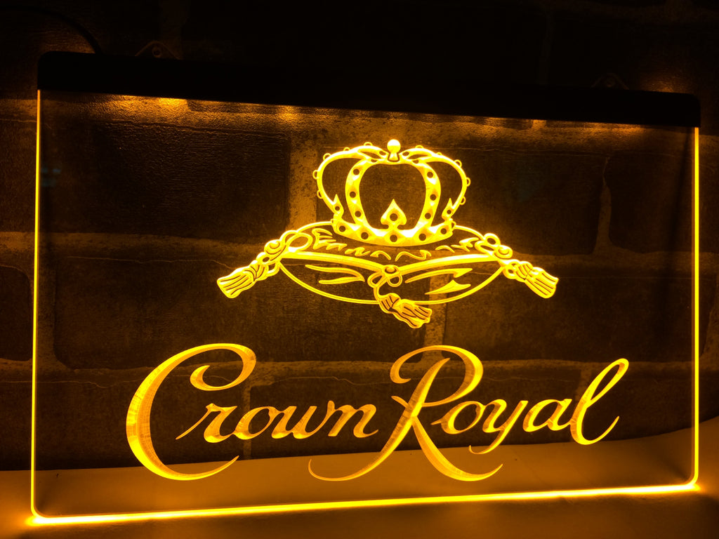 Crown Royal LED Sign - Yellow - TheLedHeroes