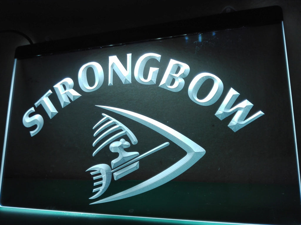 Strongbow Bar Beer Drink Pub NEW LED Sign - White - TheLedHeroes