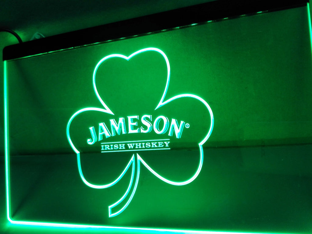 Jameson Whiskey Shamrock LED Sign - Green - TheLedHeroes