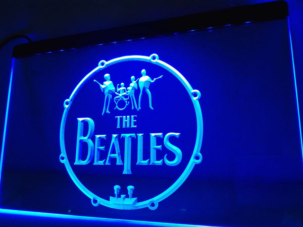 The Beatles Band Music Drums LED Neon Sign