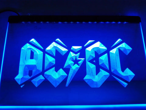 ACDC AC/DC Band Music Bar Club LED Neon Sign with On/Off Switch 7 Colors to choose