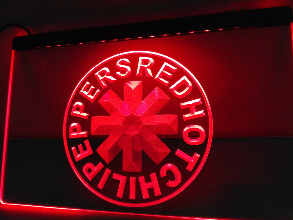 Red Hot Chili Peppers Rock Band LED Sign - Red - TheLedHeroes