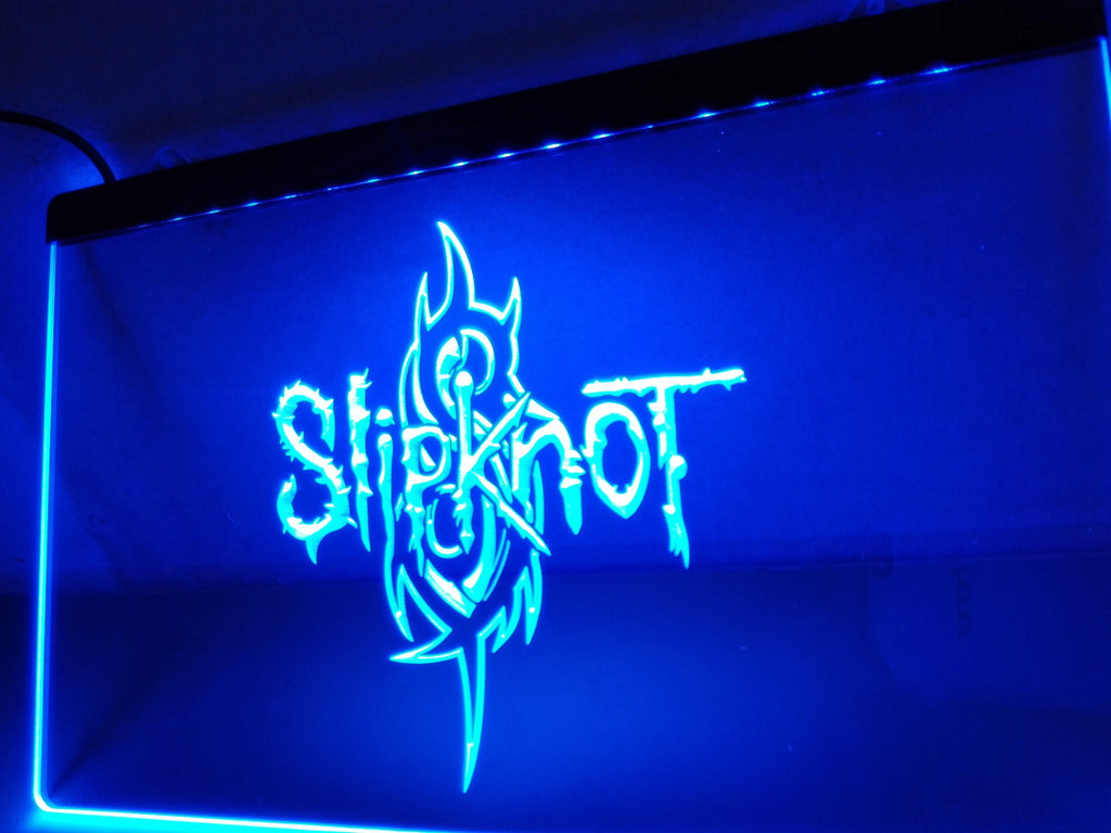 Slipknot Band Logo Rock n Roll LED Sign - Blue - TheLedHeroes