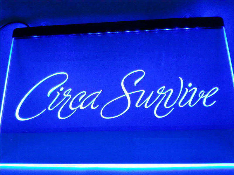 Circa Survive LED Sign - Blue - TheLedHeroes