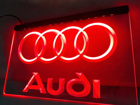 Audi LED Neon Light Sign with On/Off Switch 7 Colors to choose