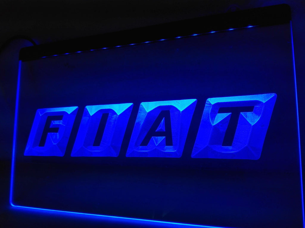 Fiat LED Sign - Blue - TheLedHeroes