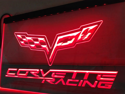 Chevrolet Corvette Racing LED Neon Sign with On/Off Switch 7 Colors to choose