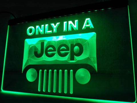 FREE Jeep only in LED Sign - Green - TheLedHeroes