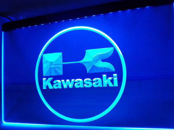 Kawasaki Racing Motorcylce Neon Sign With On Off Switch 7