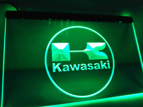 Kawasaki Racing Motorcylce Neon Sign with On/Off Switch 7 Colors to choose