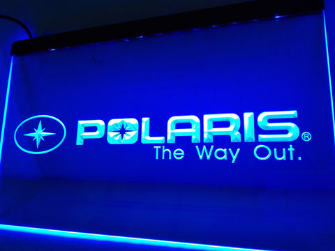 FREE Polaris Snowmobile LED Sign - Blue - TheLedHeroes