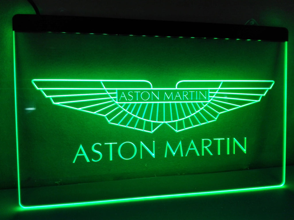 Aston Martin LED Sign - Green - TheLedHeroes