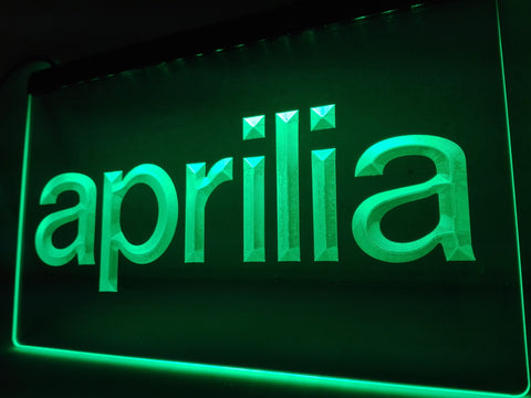 Aprilia LED Neon Light Sign with On/Off Switch 7 Colors to choose
