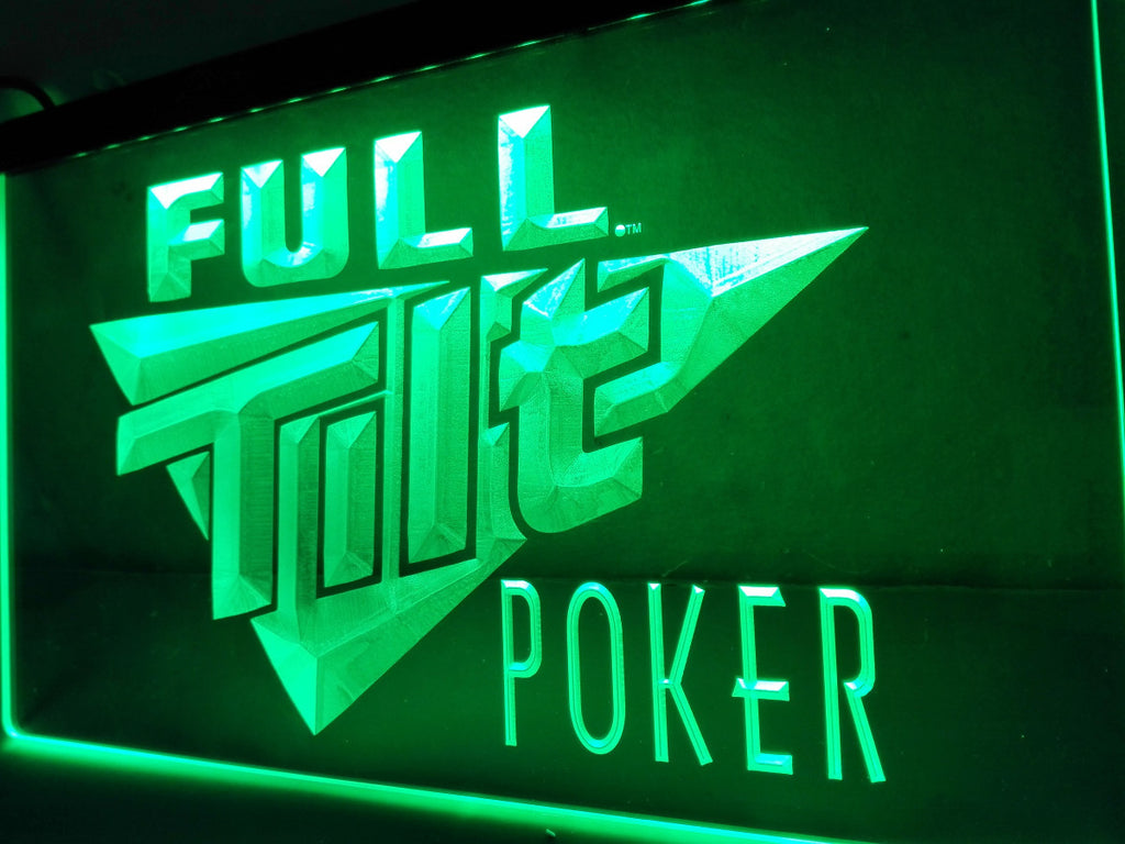 Full Tilt Poker LED Sign - Green - TheLedHeroes