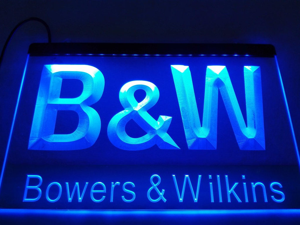 Bowers & Wilkins LED Neon Sign USB - Blue - TheLedHeroes