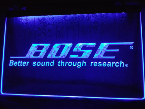 Bose Systems Speakers NR LED Neon Sign with On/Off Switch 7 Colors to choose