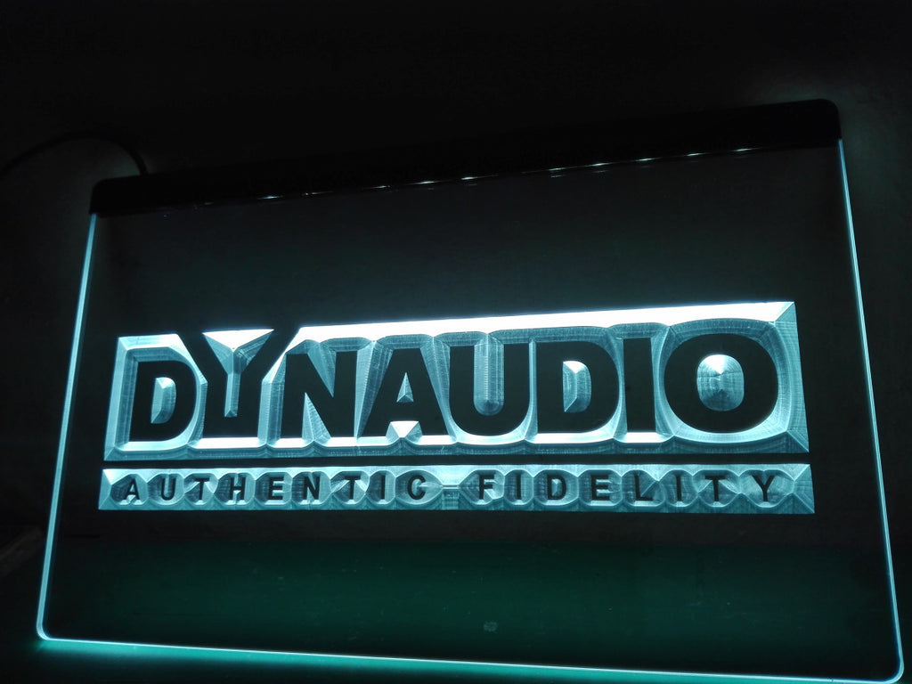FREE Dynaudio Home Theater Audio LED Sign - White - TheLedHeroes