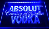 FREE Absolut Vodka LED Sign - Blue - TheLedHeroes