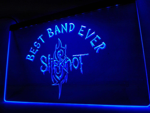 Slipknot Best Band Ever LED Sign - Blue - TheLedHeroes