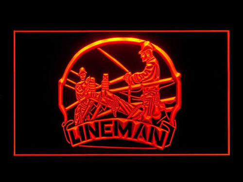 Lineman LED Sign - Red - TheLedHeroes