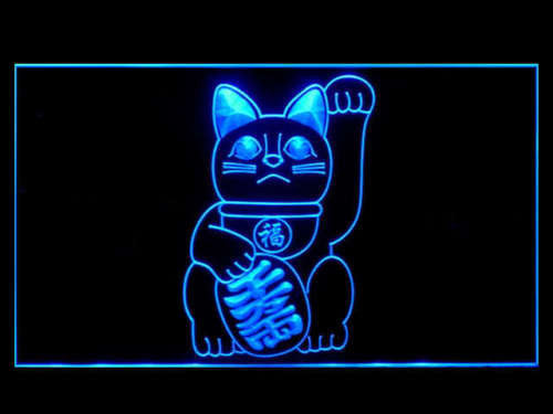 FREE Maneki Neko Beckoning Lucky Cat Money Charm LED Sign -  - TheLedHeroes