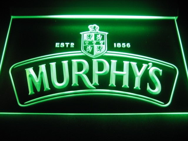 Murphy's Irish Stout LED Sign - Green - TheLedHeroes