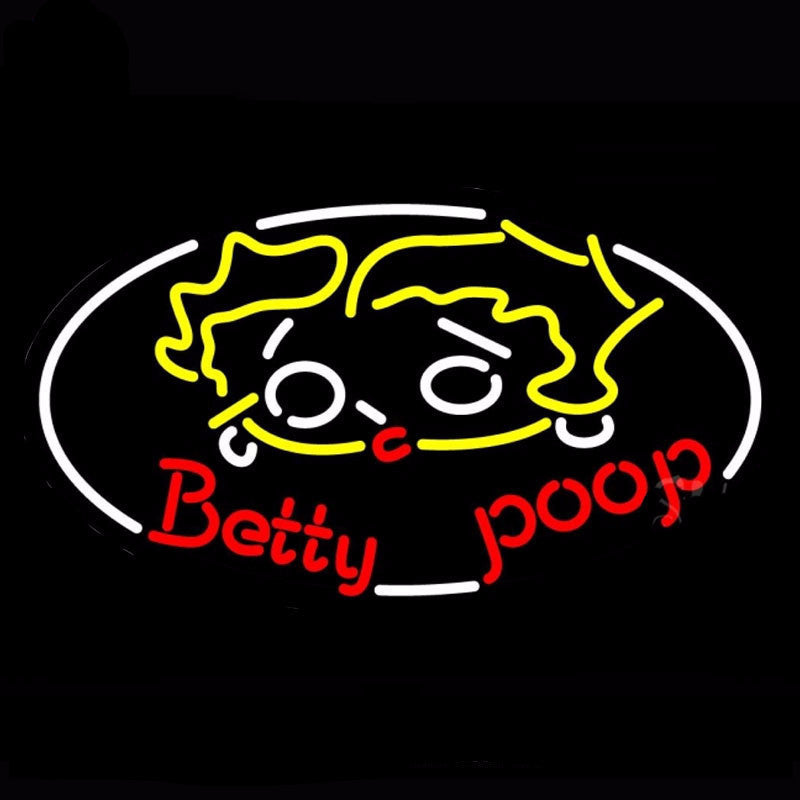 Betty Poop Neon Bulbs Sign 30x17 -  - TheLedHeroes