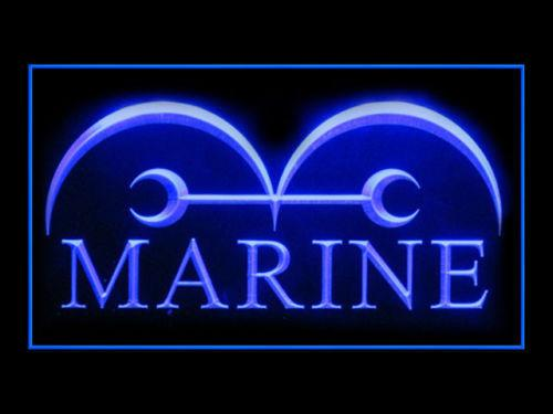 One Piece Marine LED Neon Sign USB - Blue - TheLedHeroes