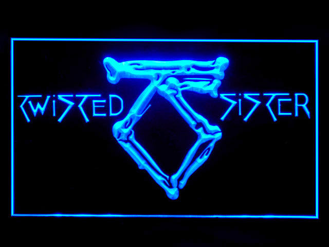 Twisted Sister LED Sign -  Blue - TheLedHeroes