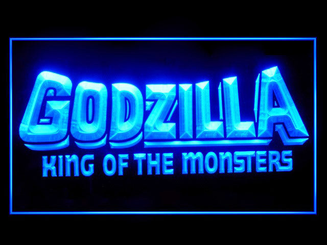 Godzilla King of the Monsters 2 LED Sign -  Blue - TheLedHeroes