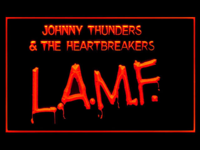 Johnny Thunders Heartbreakers LAMF LED Sign -  Red - TheLedHeroes