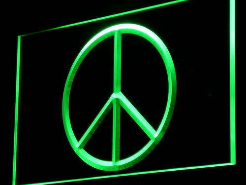 Peace Peaceful LED Sign -  Green - TheLedHeroes