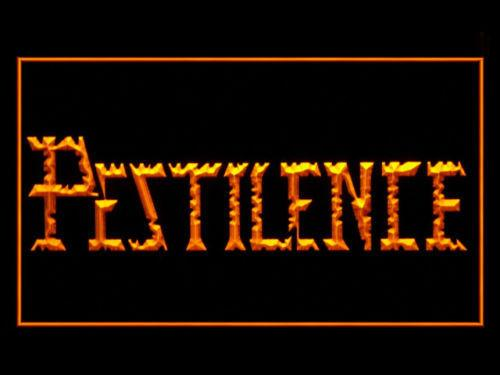 Pestilence LED Neon Sign USB - Yellow - TheLedHeroes