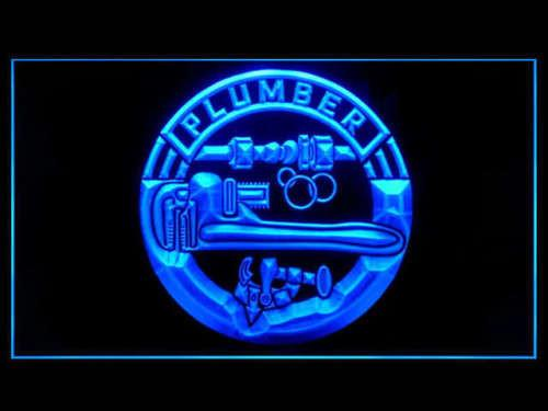 Plumber Tools LED Neon Sign USB - Blue - TheLedHeroes