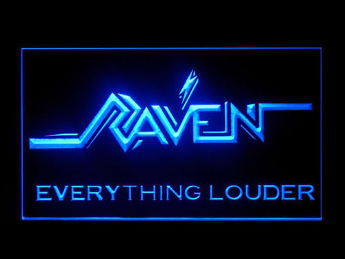 FREE Raven Everything Louder LED Sign - Blue - TheLedHeroes