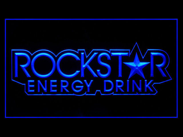 Rockstar Energy Drink Small Star LED Sign - Blue - TheLedHeroes