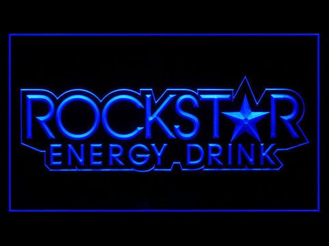 FREE Rockstar Energy Drink Small Star LED Sign - Blue - TheLedHeroes