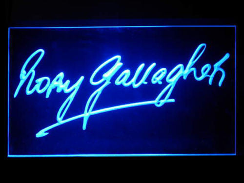 Rory Gallagher LED Sign - Blue - TheLedHeroes