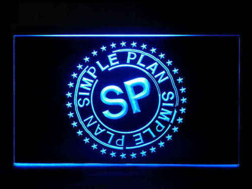 Simple Plan LED Sign - Blue - TheLedHeroes