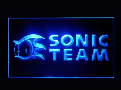 Sonic Team LED Neon Sign USB - Blue - TheLedHeroes