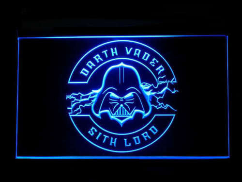 Star Wars Darth Vader LED Sign - Blue - TheLedHeroes