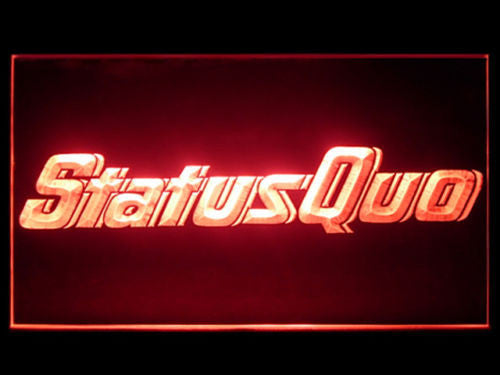 Status Quo LED Sign - Red - TheLedHeroes