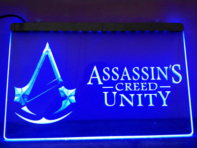 Assassin's Creed Unity LED Neon Sign with On/Off Switch 7 Colors to choose