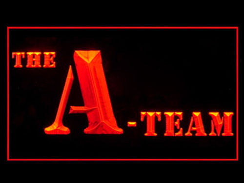 The A-Team LED Sign - Orange - TheLedHeroes