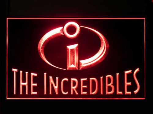The Incredibles LED Sign - Red - TheLedHeroes