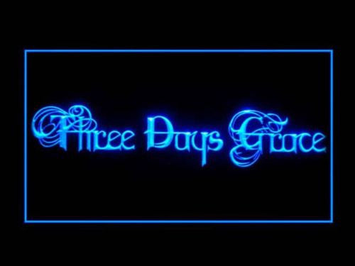 Three Days Grace LED Sign - Blue - TheLedHeroes